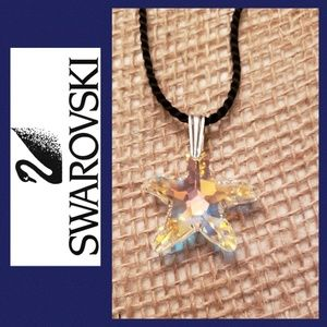 Swarovski crystal starfish necklace